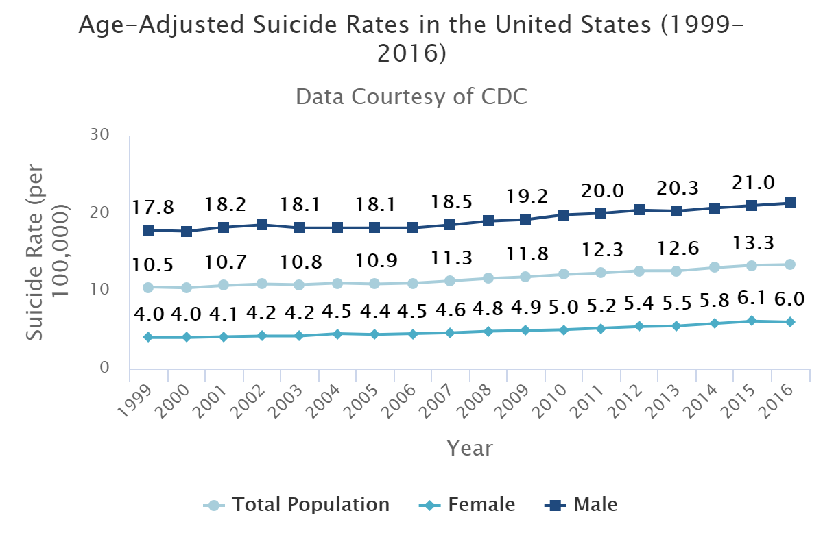 Suicide Rates Over Time